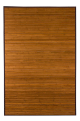 dark natural bamboo rug product image