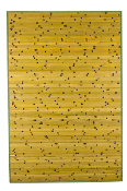raw green burnt bamboo rug product image