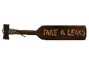 take a leaky wooden Tahitian paddle sign product image