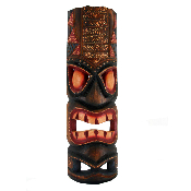20 inch Hawaiian dot art tiki mask product image