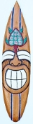 "40"" Smiley Turtle Surfboard Tiki Mask"