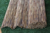 coffee colored peeled reed fence product image