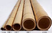 Natural black bamboo poles image