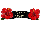 take a leaky red hibiscus sign product image
