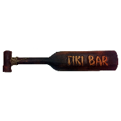 Tiki bar wooden Tahitian paddle sign product image