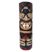 20 inch Sitting Colorful Hawaiian tiki mask product image