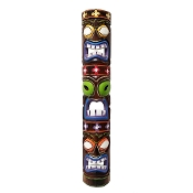 40 inch Three Face Totem tiki mask product image
